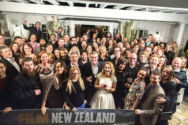 Keisha Castle-Hughes, Fleur Saville, Rhys Darby, Rena Owen, Film NZ's Roxane Gadjahar and many others get into the spirit - or at least the wine.