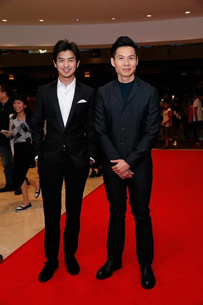 Cheng Bolin (l) and Anthony Chen arrive at the SilverScreen Awards