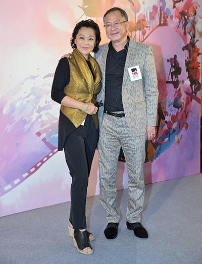 Former HKIFF vice chair Sylvia Chang and present HKIFF vice chair Johnnie To