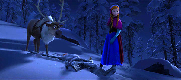 Frozen: waiting for another title to take it on at the box office